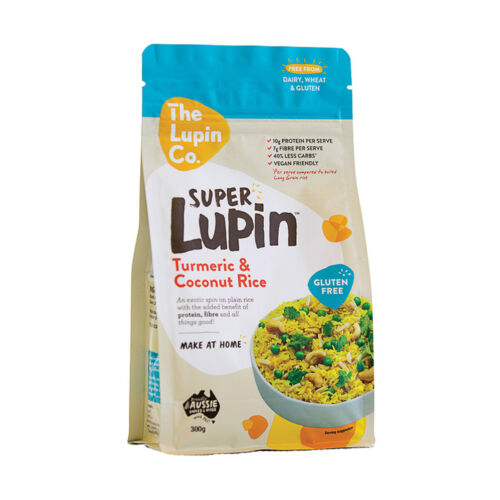 6 x 300g THE LUPIN CO Super Lupin Turmeric and Coconut Rice