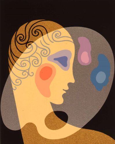 Erté - Cosmetic Palette, hand-signed serigraph