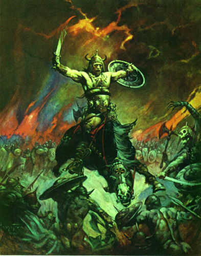FRANK FRAZETTA Fantasy Art Print THE BESERKER  1.4 1979
