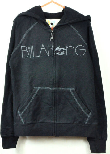 GIRLS BILLABONG  BLACK COLOUR ZIP THROUGH HOODIES JACKET JUMPER