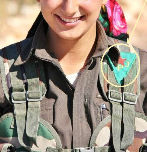 Iraq-syria Kurdish Anti-isis Freedom Fighters Peshmerga پێشمەرگە Velkrö Ssi: Ypj