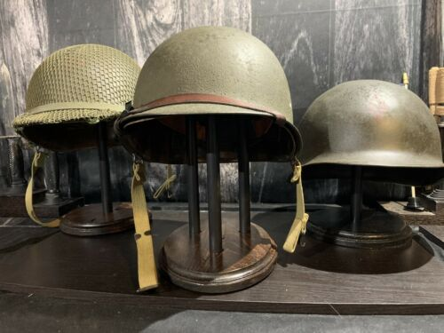 HELMET STAND - Military,German,US - Classic Old World Stain -Model # OWC-3Hats & Helmets - 4722