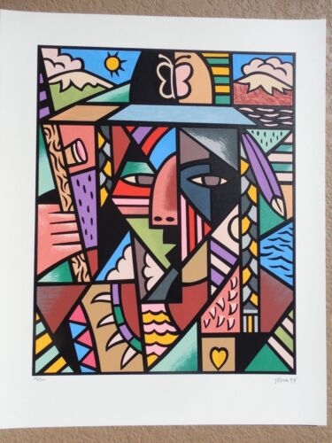 """FINAL PRICE REDUCTION John Rosa """"Indian"""" Hand Signed & Numbered Screenprint !!!"""