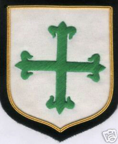 Medieval Crusades Christ Knights Aviz Order Portuguese Portugal Patch Applique Reenactment & Reproductions - 156374