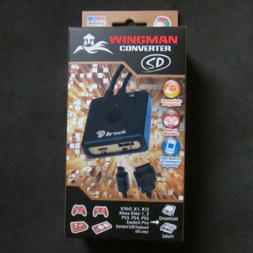 BROOK Wingman Converter SD PS3 PS4 XB 360 One Controller to for SATURN DREAMCAST