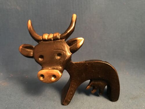 "Mid Century WALTER BOSSE Black Patinated Brass ""BULL"" Pen Holder HERTA BALLER"