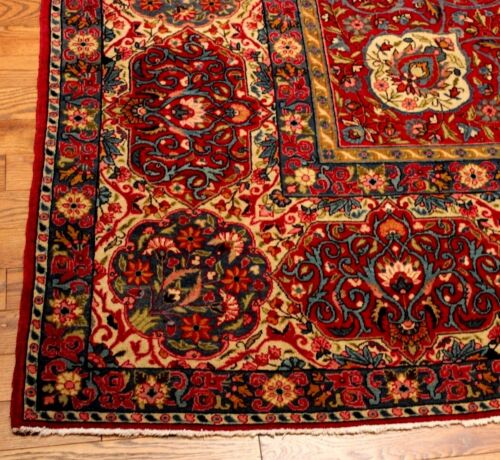 "Antique Genuine Persian Oriental  Isfahan  Semnan Carpet  Rug 17' 8""  X  11' 3"""
