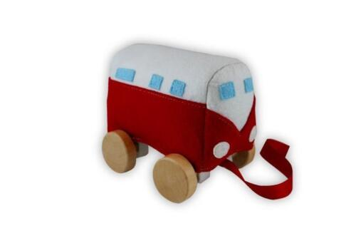 NEW Discoveroo Childrens Pull Along Ring 'n Roll Kombi - Baby Pull Toy