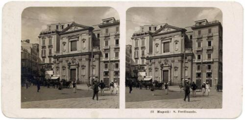 Stereocard Naples San Ferdinando Gelatin silver photo Author Steglitz 1904 S185