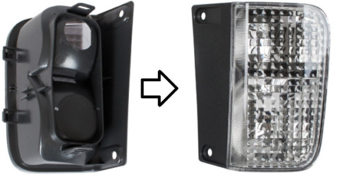 2Renault Trafic (2001-2014) LAMPE FEU ARRIERE DROIT NEUF TOP .