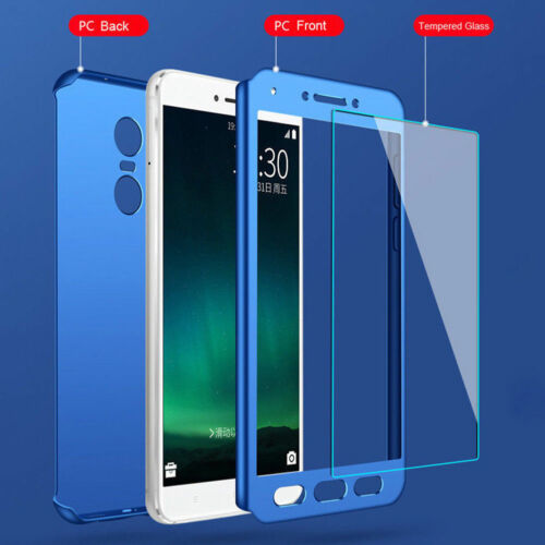 New fashion 360° Full coverage+ PC Glass Phone Case For XIAOMI Cover