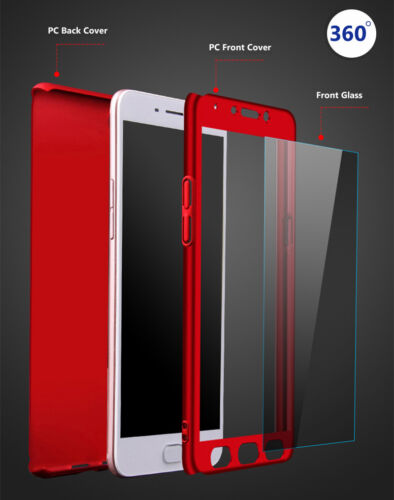New fashion 360° Full coverage+ PC Glass Phone Case Cover