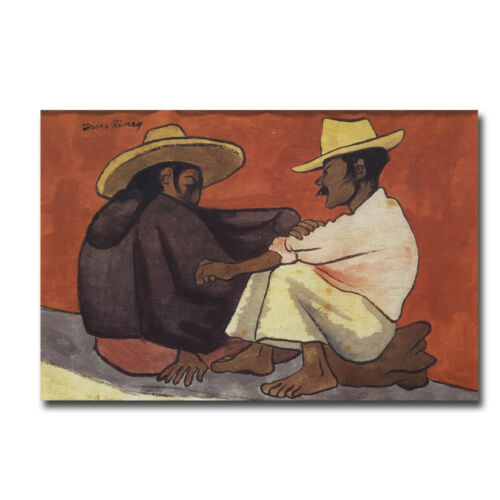 Pareja Indigena by Diego Rivera Gallery-Wrapped Canvas Giclee (24 in x 36 in)