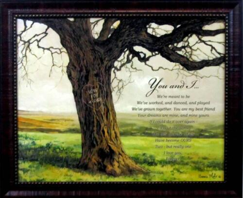 You and I by Bonnie Mohr Framed Tree inspirational Print
