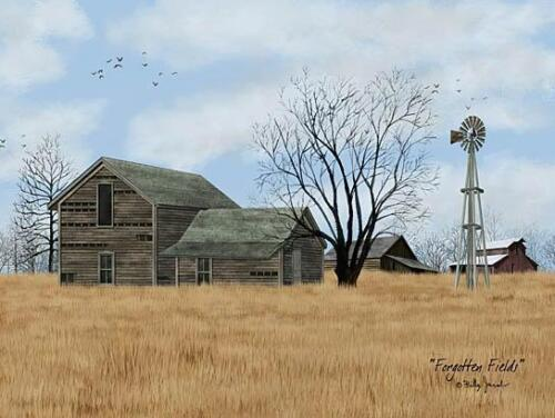 Billy Jacobs Forgotten fields farm County Barn Art Print 16 x 12