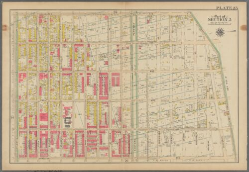 1908 BROOKLYN NY CROWN HEIGHTS PS 83 ST JOHNS BOYS HOME COMMERCE H.S. ATLAS MAP
