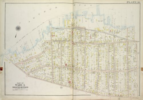 1917 STATEN ISLAND, NEW YORK, TOTTENVILLE, ST. LOUIS ACADEMY COPY PLAT ATLAS MAP