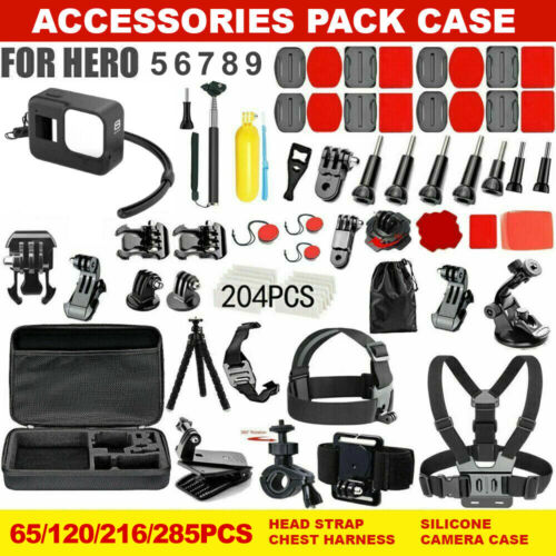 GoPro Hero 9 8 7 6 5 4 Accessories Pack Case Chest Head Floating Monopod