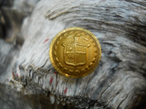 Old Rare Vintage Antique War Relic New York Officer Coat Button Original Period Items - 7271