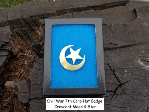 Civil War Crescent Moon & Star 7th Corp Badge Great Gift with Free CaseUniforms - 36041