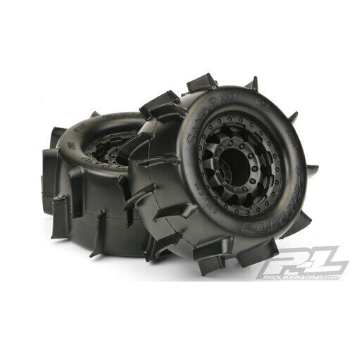 SAND PAW 2.8IN TIRES MOUNTED ON F-11 BLACK 17MM WHEEL - PR1186-18
