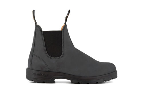 Blundstone Unisex 587 Rustic Black Leather Chelsea Ankle Classic Mens Boots