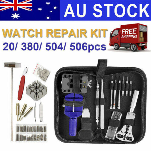 20/380/504/506pcs Watch Opener Hand Watchmakers Remover Repair Tool Kit Set