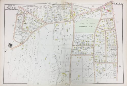 1905 WEST ROXBURY BOSTON MA BILLINGS FIELD SPRING STREET STATION ATLAS MAP
