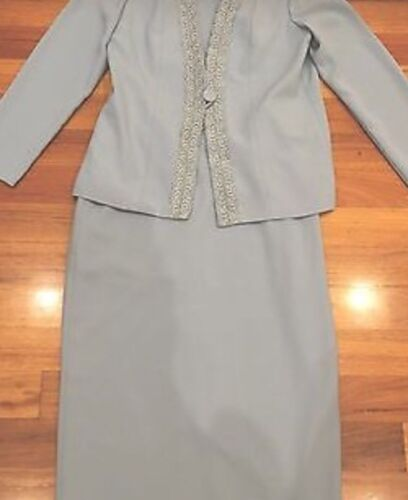 Monti Wedding Formal Party Cocktail dress Suit size 12 2 Blue Pieces As New