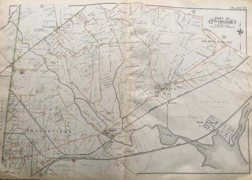 1898 BALTIMORE CO MARYLAND ORANGEVILLE ROSEDALE NEW WARSAM GOLDEN RING ATLAS MAP