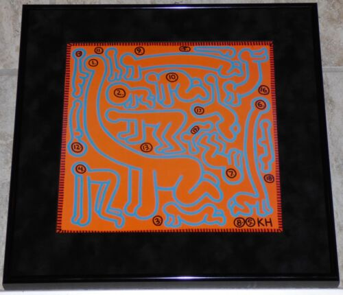 KEITH HARING UNTITLED OCTOBER 1985 FRAMED POSTER PRINT