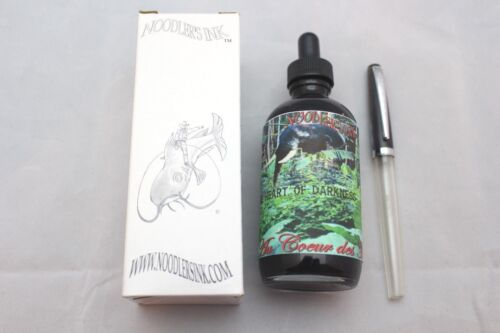 NOODLERS INK 4.5 OZ BOTTLE HEART OF DARKNESS WITH CHARLIE FOUNTAIN PEN