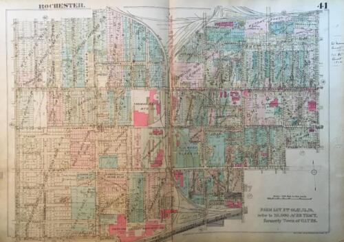 1926 DUTCHTOWN ROCHESTER NEW YORK UNITED NEIGHBORS TOGETHER ATLAS MAP
