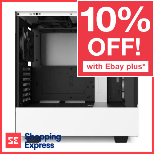 NZXT H510 ATX White Gaming Tempered Glass Case Matte Mid Tower Window Desktop PC <br/> 15% OFF With Code PANTHER. Ebay Plus Only. T&C Apply.