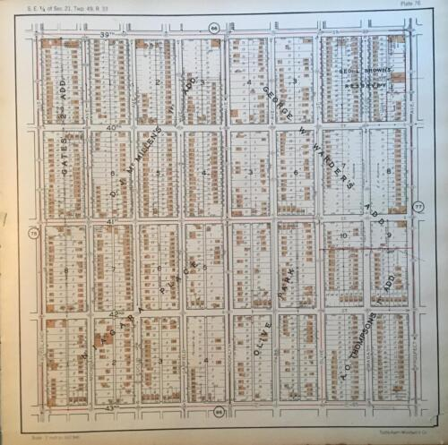 1925 KANSAS CITY MISSOURI IVANHOE SOUTHWEST OAK PARK S.E. BENTON BLVD ATLAS MAP