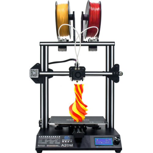 Geeetech 3D Printer A20M  2 in 1 out Extruder Auto-leveling mixing color model