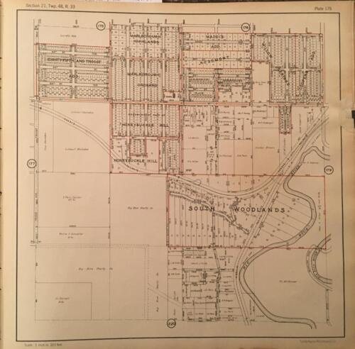 1925 KANSAS CITY MO LEGACY EAST PARK HILLCREST COUNTRY CLUB BLUE RIVER ATLAS MAP