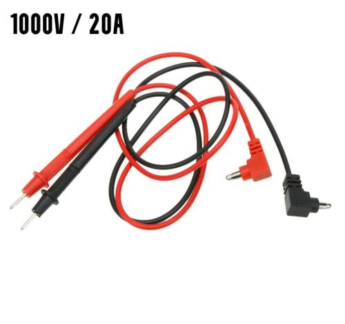 MULTIMETER VOLTMETER AMMETER TEST LEAD PROBE WIRE PEN CABLE - UNIVERSAL - 1 Pair <br/> * Aussie Stock - Fast Postage! *    1000V 20A Rating