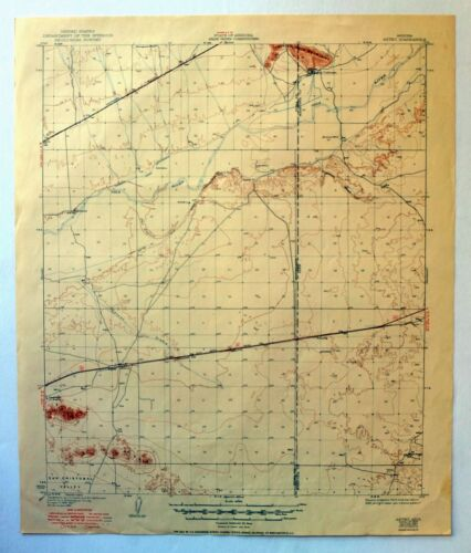 Aztec Arizona Vintage Original USGS Topo Map 1929 Gila River Topographical