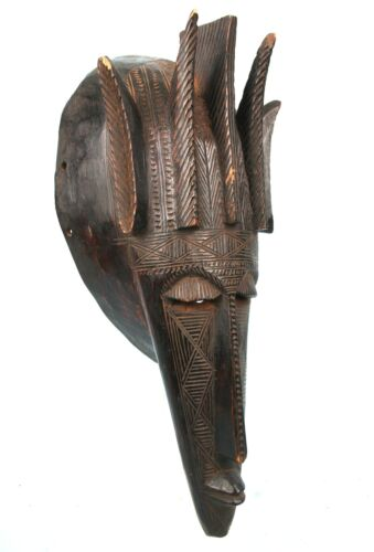 Art African - Superb Mask Marka covered in Engravings Fine & Detailed