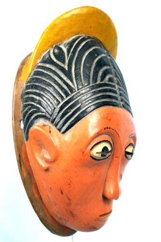 Art African Tribal - Antique & Authentic Small Mask Carry Baoulé