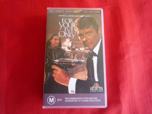 JAMES BOND - FOR YOUR EYES ONLY - VHS VIDEO TAPE