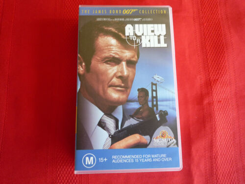 JAMES BOND - A VIEW TO A KILL - VHS VIDEO TAPE