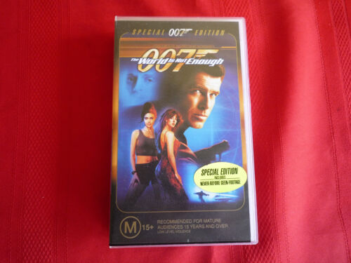 JAMES BOND - THE WORLD IS NOT ENOUGH - SPECIAL EDITION - VHS VIDEO TAPE