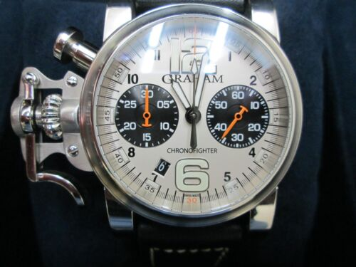 e59df7a15 $2850.0 GRAHAM CHRONOFIGHTER CHRONOGRAPH 2 REGISTER STAINLESS BACK  RUNNINGWatch NO.1293Wristwatches - 31387