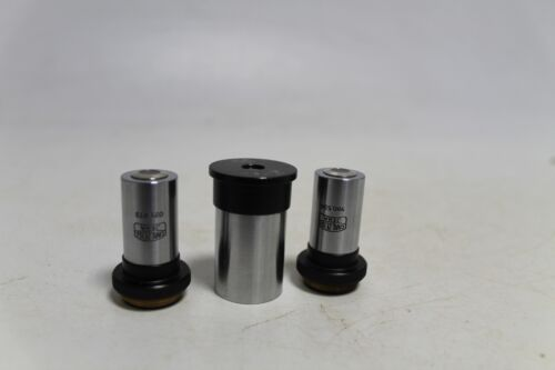 Rare Antique Old Set 3Pieces German Made Loupe  Microscope Carl Zeiss