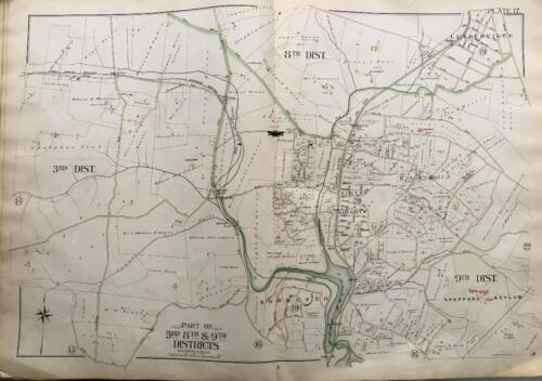 1898 BALTIMORE CO MARYLAND SHEPPARD ASYLUM SORRENTO RUXTON HEIGHTS ATLAS MAP