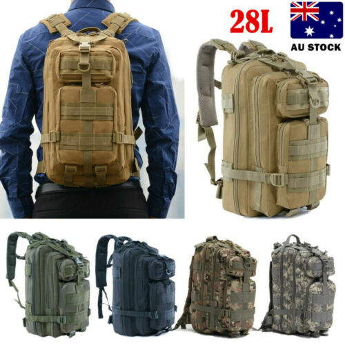 Waterproof  28L Military Tactical Backpack Rucksack Bag Camping Outdoor Hiking <br/> Best Price/Top Quality/AU Stock/Fast Free Shipping