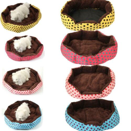 Small/Large Pet Bed Dog Cat Bed House Kennel Doggy Warm Cushion Mat Blue Pink