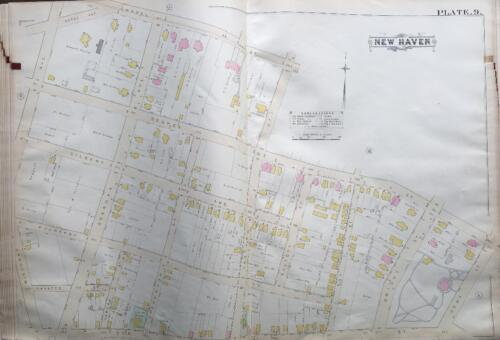 1888 DWIGHT NEW HAVEN CT EDWARD MALLEY ESTATE OAK STREET SCHOOL ATLAS MAP